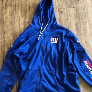 New York Giants Zip Up Hoodie